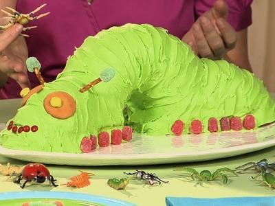 Cómo hacer un pastel con forma de oruga y ponquecitos con forma de insectos