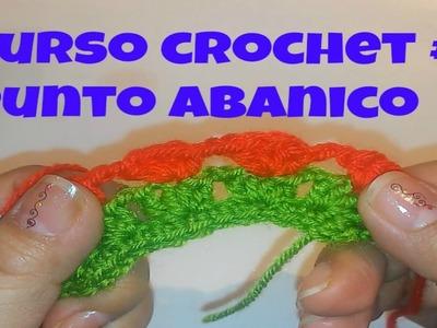 CURSO CROCHET #3 ,PUNTO ABANICO