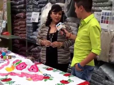 """Detrás de cámaras con """"Estambres Karina y TV Puebla"""" - Tejiendo con Laura Cepeda"""