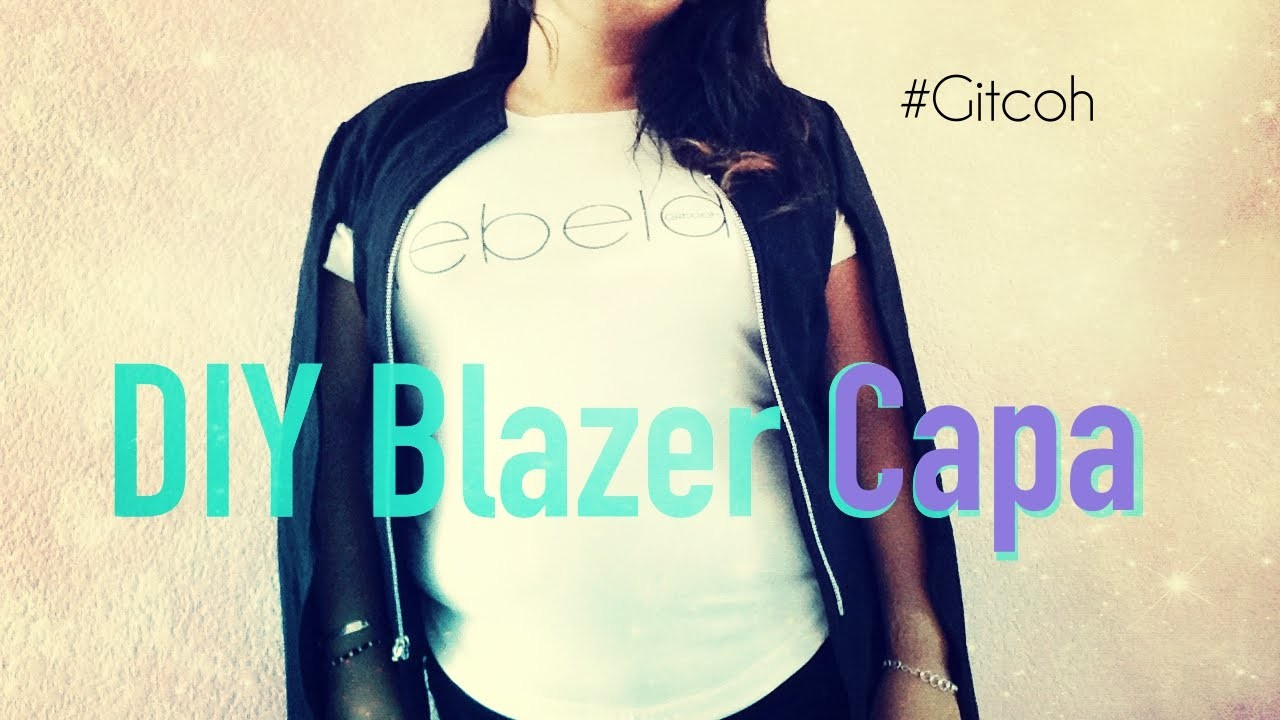 DIY Blazer Capa | Gitcoh