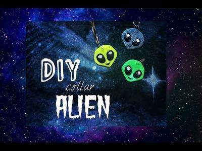 DIY:Como hacer un collar del emoji alien con porcelana fria!