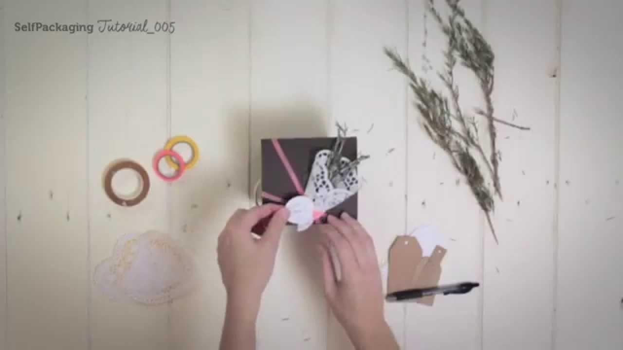DIY decoración de regalos con un toque rústico - SelfPackaging tutorial