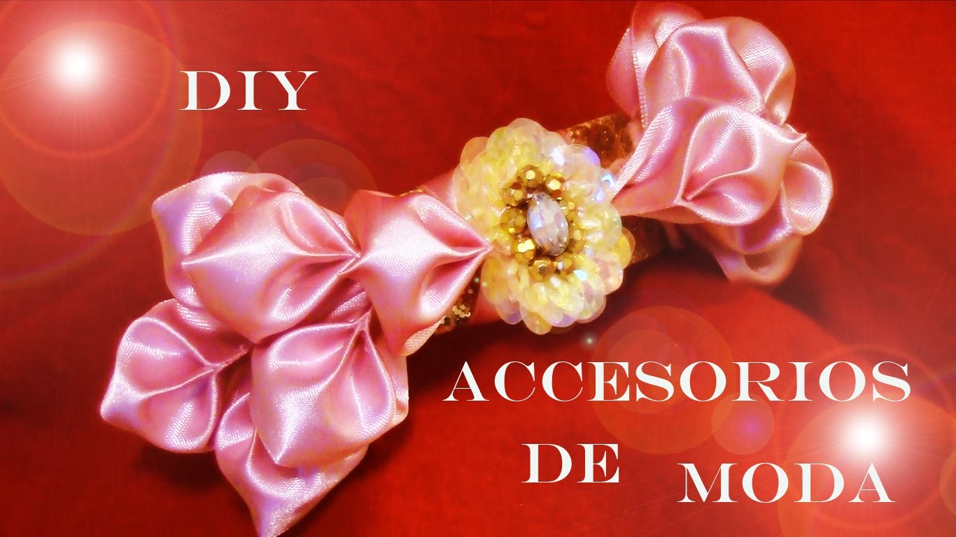 DIY moños de pétalos de flores - fashion accessories satin ribbons flower petals