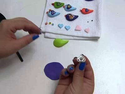 Diy pajaritos en Porcelanicron para accesorios, recordatorios  o decoración manualidades