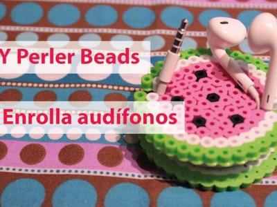 DIY Perler beads I #2 Guarda.enrolla audífonos