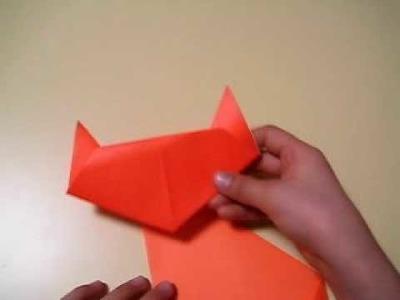 Origami de gato fácil (cat)
