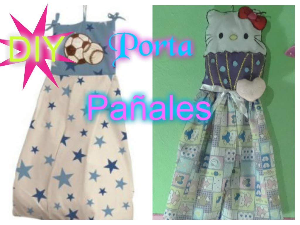 Porta Pañales  Hello Kitty Pañalera facil.Diaper bag DIY