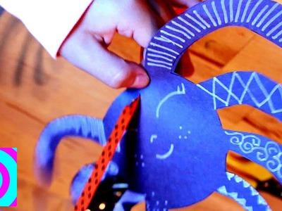 Arañas de papel para Halloween - Manualidades para Niños