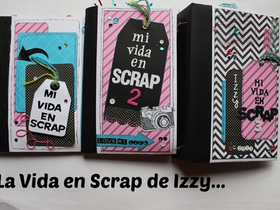 ATENCION PARTICIPANTES DE MI VIDA EN SCRAP 3. . Mini album Scrapbook en español