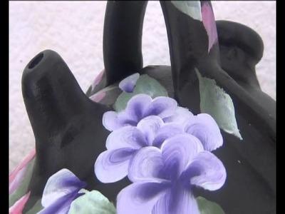 !!! Como Pintar Flores Violetas  Paso  A  Paso Rápido Y Muy Fácil !!! 3