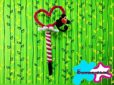 Corazón y Changuito de limpia pipas para decorar