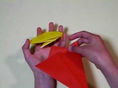 Ice cream (helado) en origami