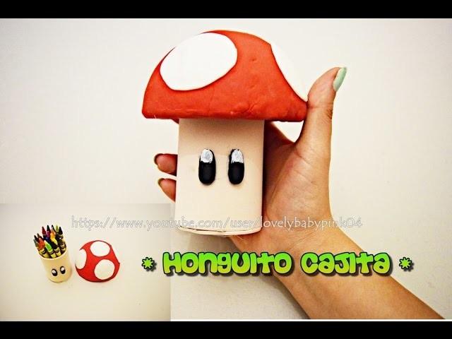 Manualidades Honguito de Mario Bross. Reciclado porcelana fria