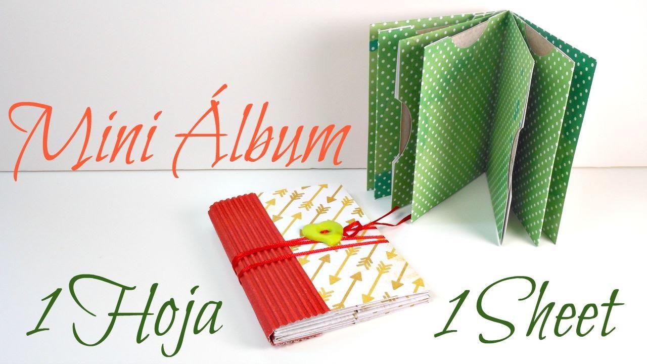 Mini Álbum RÁPIDO Y FÁCIL   1 Sheet Mini Book #2   Scrapbook   Mundo@Party