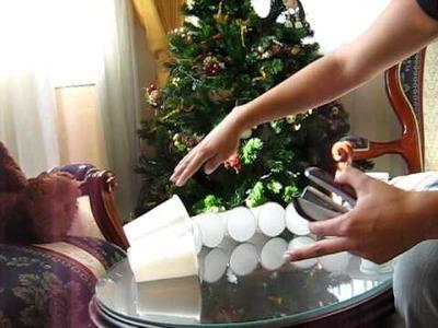 Muñeco de Nieve con vasos desechables