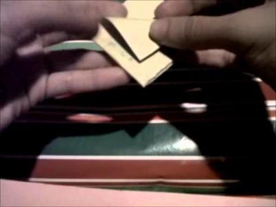 Origami para hacer un SERVILLETERO