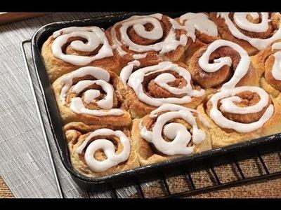 Roles de canela - Cinnamon rolls - Recetas de pan