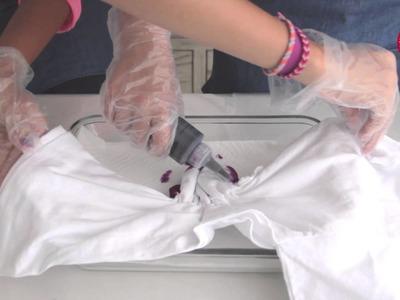 Técnica de teñido tie-dye con Color Twist: corazón.