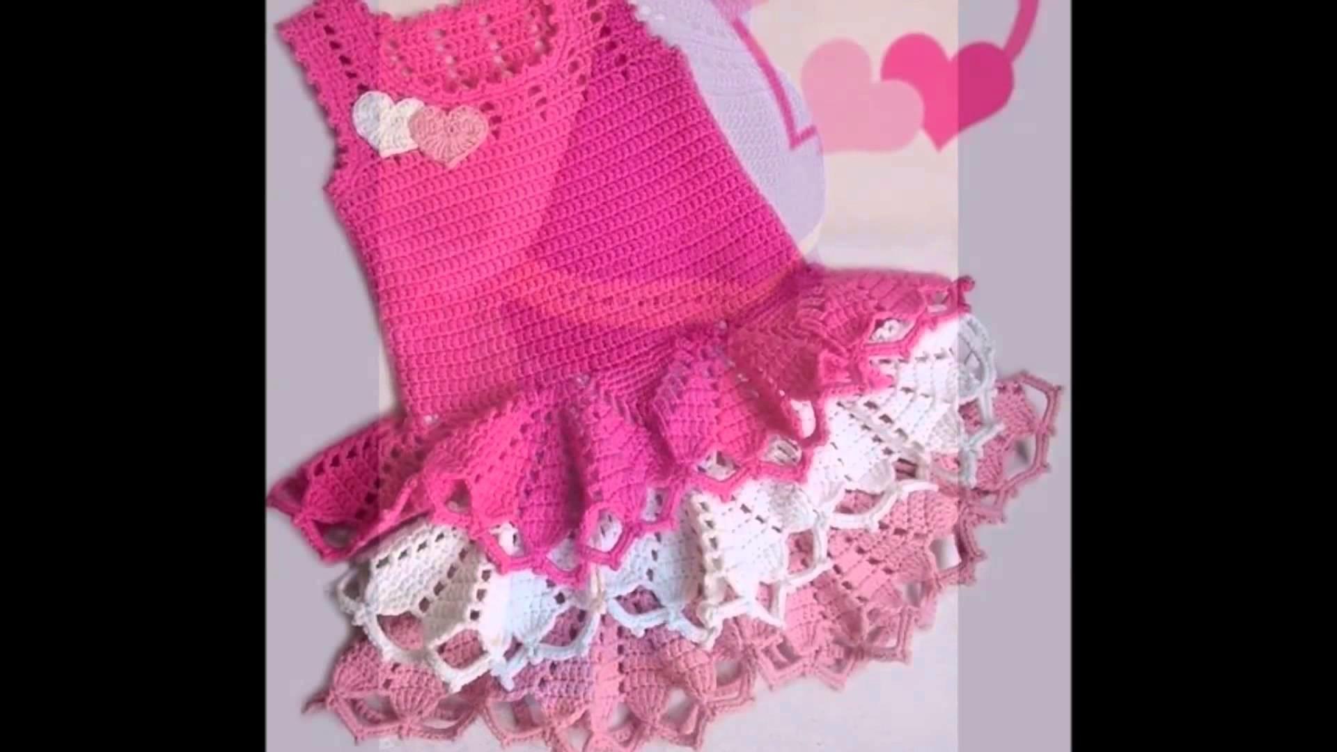 Vestido crochet niña 4 años