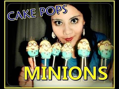 "CAKE POPS en forma de ""MINIONS"" Mi receta :)"