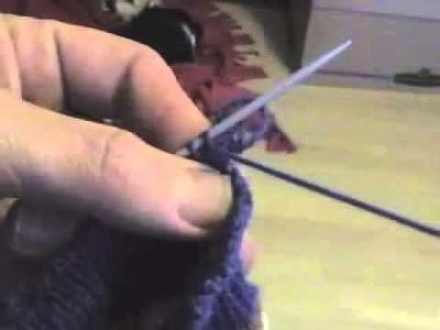 Como cerrar puntos para un ribete elástico en los calcetines