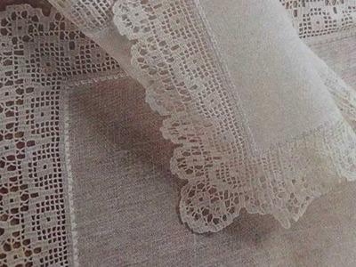 Como Tejer camino de mesa a crochet y lino