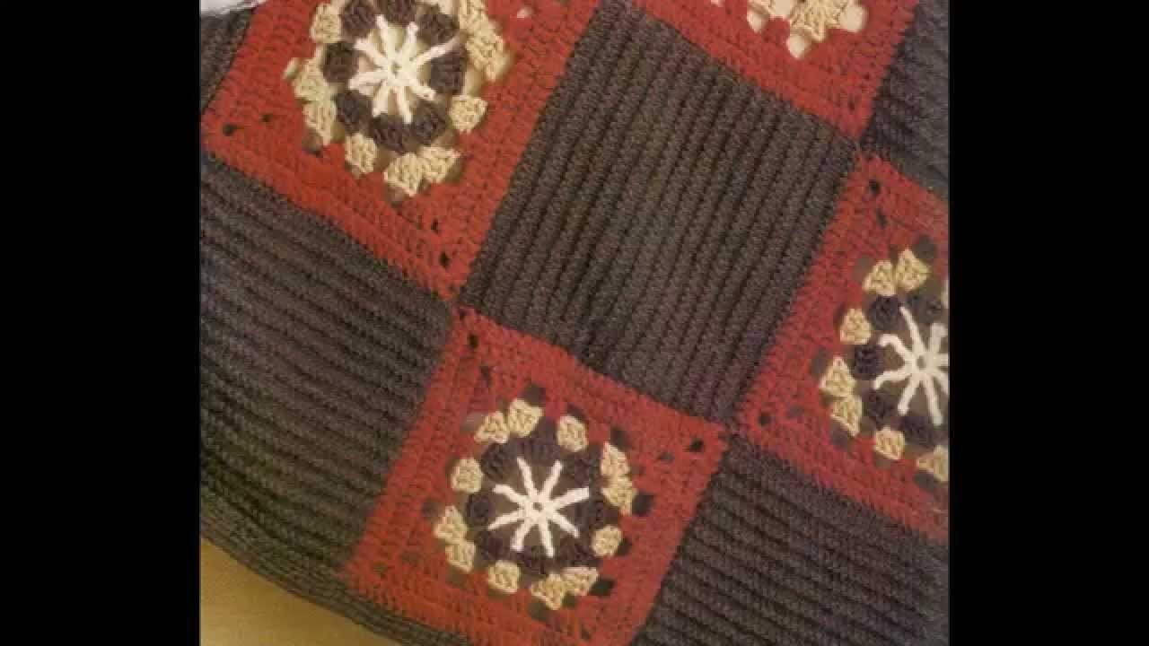 Como tejer Plaid a cuadros a crochet
