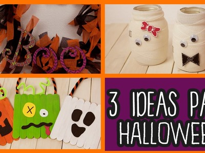 Decoraciones para Halloween 3 Ideas fáciles - Manualidades para Halloween - DIY | Catwalk