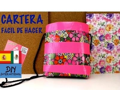 LINDA CARTERA FÁCIL Y RÁPIDA DE HACER PASO A PASO - TUTORIAL DIY
