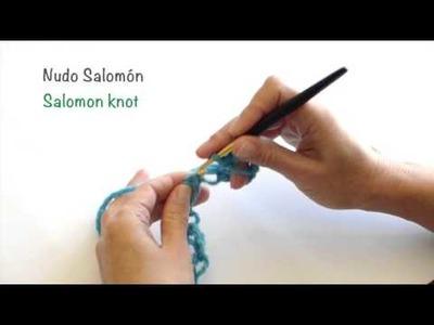 Nudo Salomón de crochet. Crochet Solomon knot