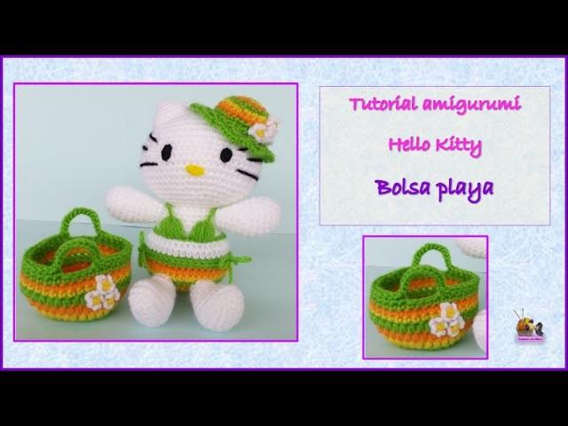 Tutorial amigurumi Hello Kitty - Bolsa de playa