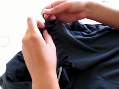 Tutorial para reciclar y personalizar camisetas