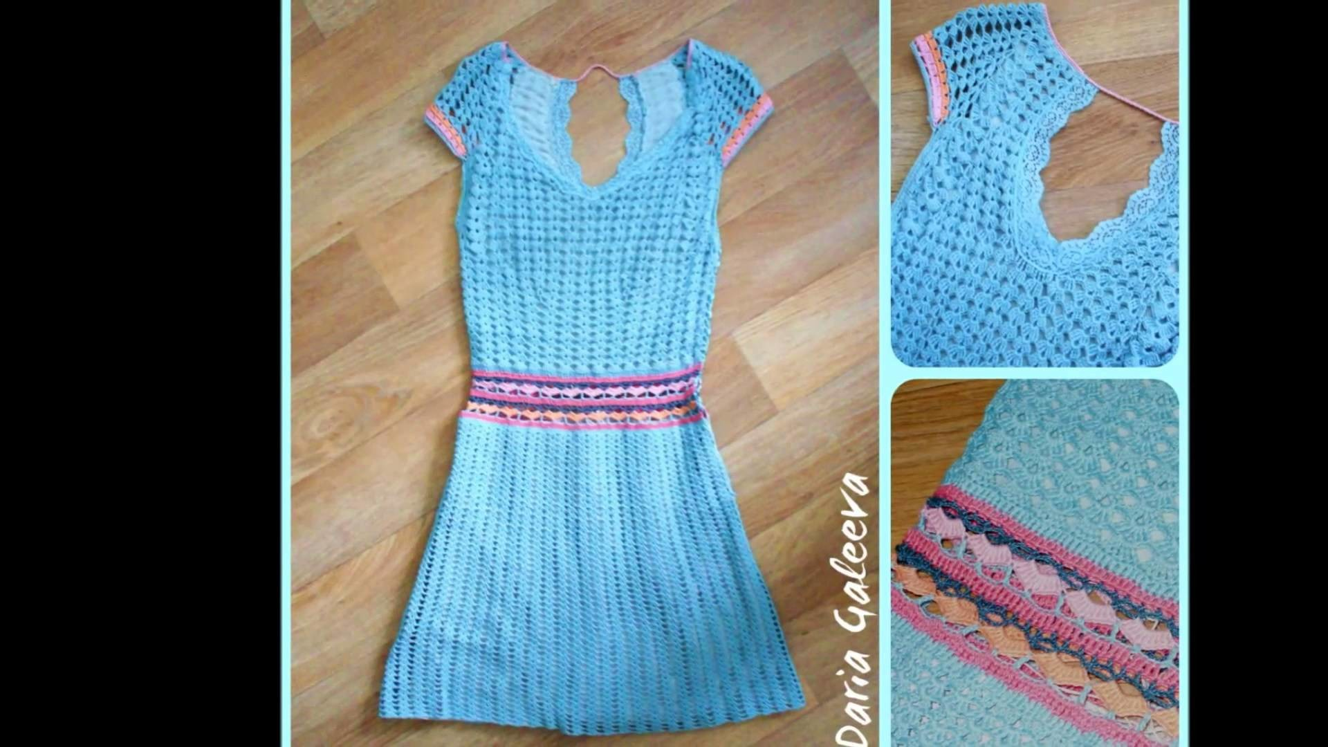Vestidos para dama tejidos a ganchillo