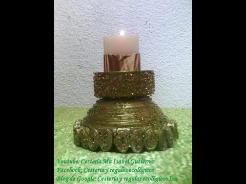 Candelabros hechos de papel. DIY Candlesticks made of paper