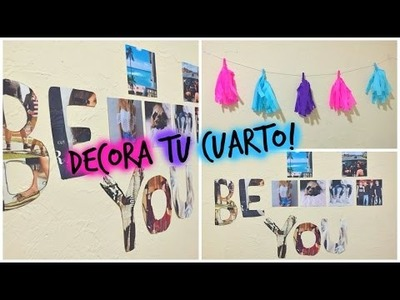 DIY: 2 ideas para decorar tu cuarto! | TutosMar