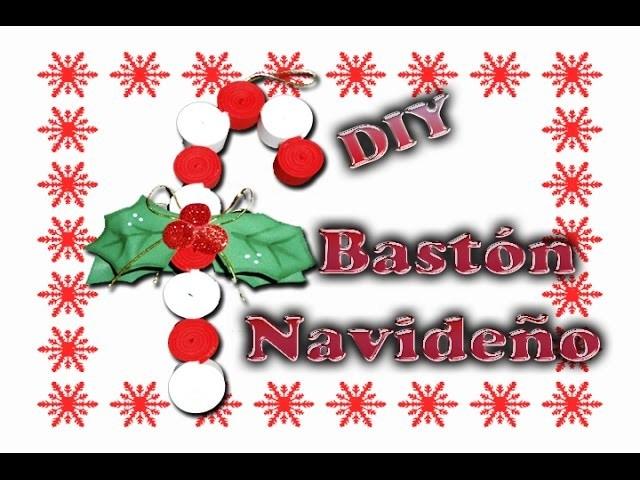 Adorno, Bastón Navideño hecho de foamy (goma eva)   caramelo   DIY Christmas
