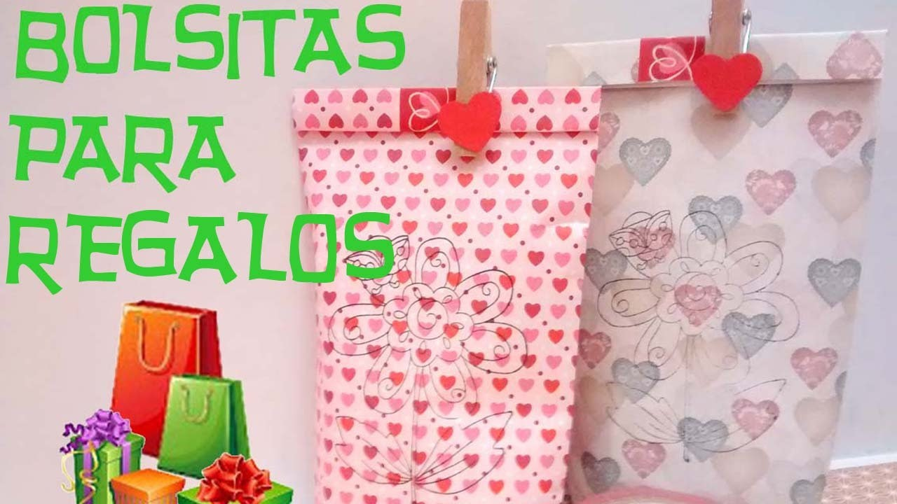 Bolsitas papel regalo. Paper gift bags.