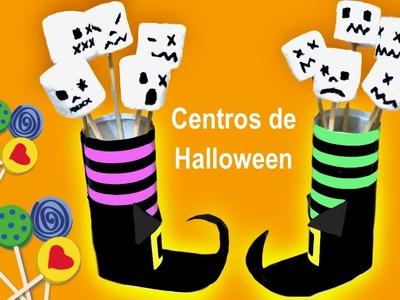 Centro de Halloween piernas de bruja. Toilet paper centrepiece