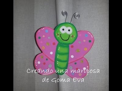 Creando una mariposa de GomaEva (foamy) - DIY Eva Rubber Butterfly