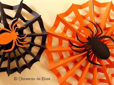 Decoración para Halloween.Día de los Muertos, Tela de Araña, Paper spiderweb, Halloween Decoration