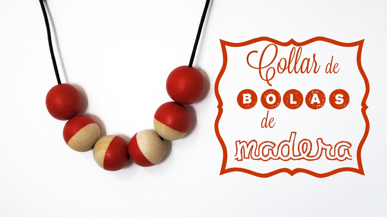 DIY - Collar de bolas de madera