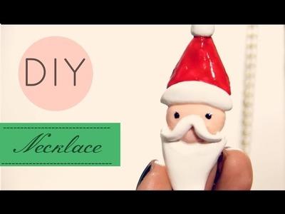 DIY Collar Navideño Santa Claus Necklace Papá Noel