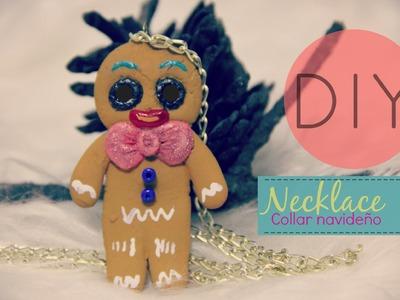 DIY Necklace Collar Navideño