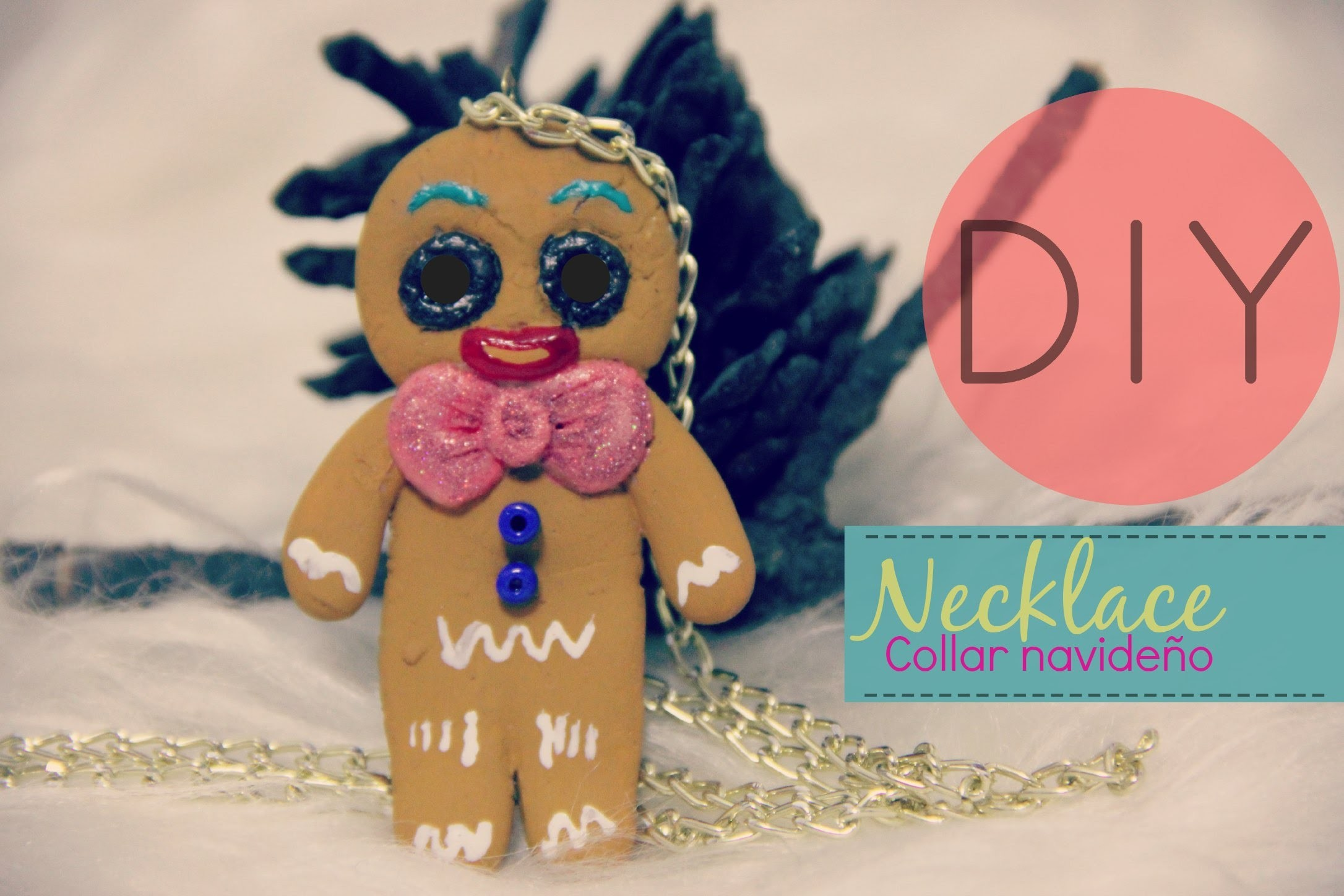 DIY Necklace Collar Navideño