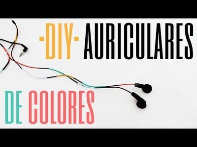DIY Pinta tus auriculares de colores con esmalte de uñas