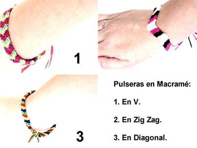 DIY Pulseras de Macrame. DIY Macrame Bracelets - MikoSaa