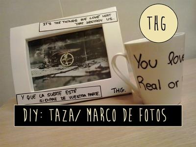 DIY: Taza. Marco de fotos- Sinsajo (THG)  | Colaboración
