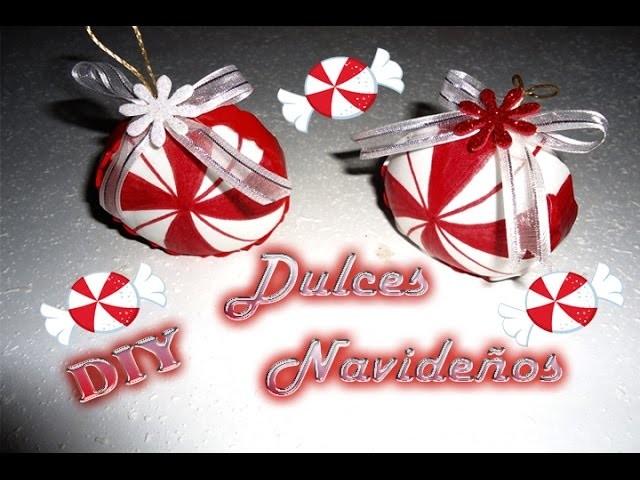 Dulces Navideños hechos de Foamy (goma eva) |Christmas candy | DIY Adorno para el árbol