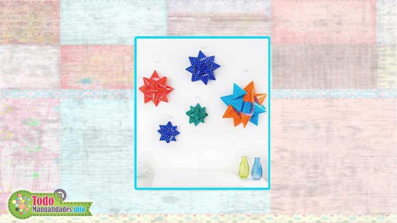 Estrellas con lazos de papel - Paper star ties