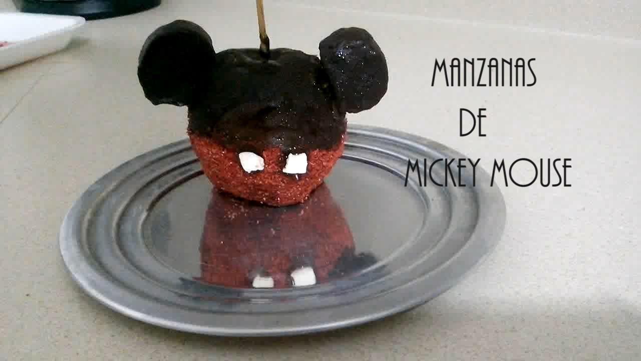 ¡DIY Haz Manzanas en forma de Mickey Mouse! ❤ - JESSI PAPER